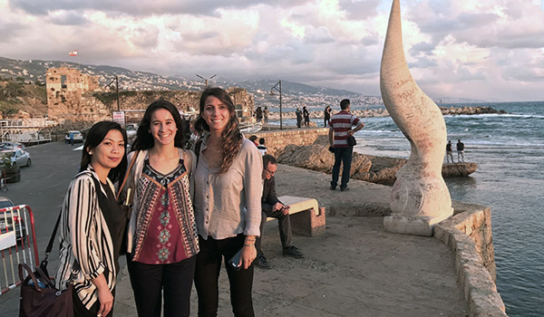 UCI Law students in Beirut