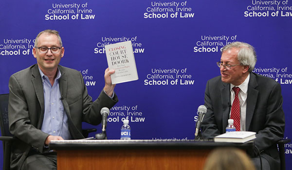 Image of Prof. Hasen and Dean Chemerinsky at book talk